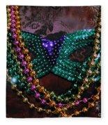 Mardi Gras Feminine Mystique Fleece Blanket
