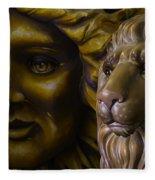 Mardi Gras Lion Fleece Blanket