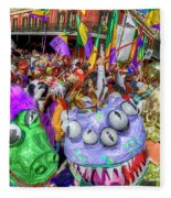 Mardi Gras Mob Fleece Blanket