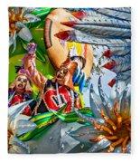 Mardi Gras - New Orleans 3 Fleece Blanket