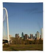 Margaret Hunt Hill Bridge In Dallas - Texas Fleece Blanket
