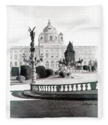Maria Theresien Platz Fleece Blanket
