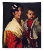 Maria Y Consuelo Gitana 1906 Fleece Blanket