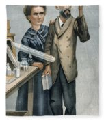 Marie And Pierre Curie Fleece Blanket