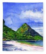 Marigot Bay St Lucia Fleece Blanket