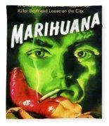 Marihuana Fleece Blanket