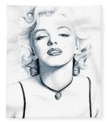 Marilyn Black And White Fleece Blanket