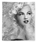 Marilyn Danella Ice Bw Fleece Blanket