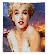 Marilyn Hotty Totty Fleece Blanket