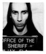 Marilyn Manson Mug Shot Vertical Fleece Blanket