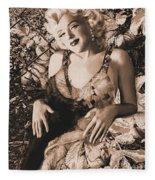 Marilyn Monroe 126 A 'sepia' Fleece Blanket