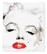Marilyn Monroe Minimalist Fleece Blanket