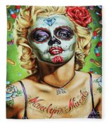 Marilyn Monroe Jfk Day Of The Dead  Fleece Blanket