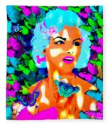 Marilyn Monroe Light And Butterflies Fleece Blanket