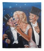 Marilyn Monroe Marries Charlie Mccarthy Fleece Blanket