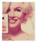 Marilyn Monroe Selfie 1 Fleece Blanket