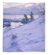 Marina And Snow Fleece Blanket