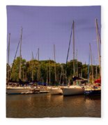 Marina At Lake Murray S C Fleece Blanket