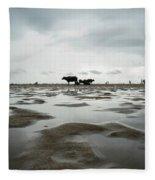 Marina Beach, Chennai Fleece Blanket