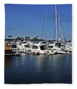 Marina Del Rey California Fleece Blanket