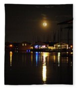Marina Moon Fleece Blanket