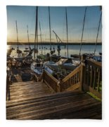 Marina Sunrise Fleece Blanket