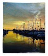 Marina Sunset Fleece Blanket