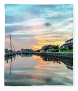 Marina Walk To Hemingway's Fleece Blanket