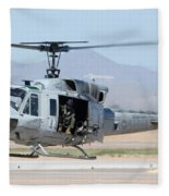 Marine Corps Bell Uh-1n Huey Buno 158559 Mesa Gateway Airport Arizona March 11 2011 Fleece Blanket
