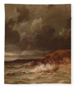Marine Landscape The Cape And Dunes Of Saint Quentin 1870 Fleece Blanket