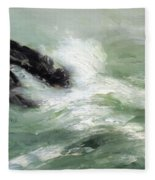 Marine Storm Sea 1911 Fleece Blanket