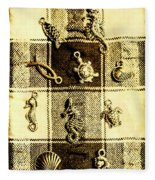 Marine Theme Fleece Blanket