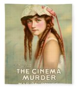 Marion Davies In The Cinema Murder 1919 Fleece Blanket
