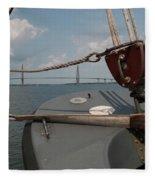 Maritime Bridge View Fleece Blanket