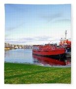 Maritime Springtime Fleece Blanket