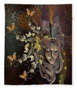 Mask Of The Wind Fleece Blanket