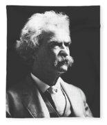 Mark Twain Fleece Blanket
