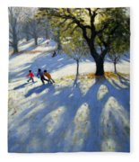 Markeaton Park Early Snow Fleece Blanket