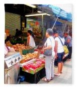 Market At Bensonhurst Brooklyn Ny 1 Fleece Blanket