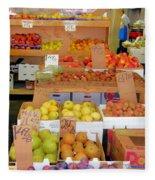 Market At Bensonhurst Brooklyn Ny 11 Fleece Blanket