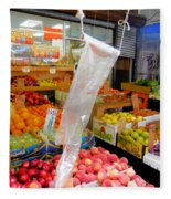 Market At Bensonhurst Brooklyn Ny 3 Fleece Blanket