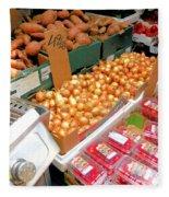 Market At Bensonhurst Brooklyn Ny 4 Fleece Blanket
