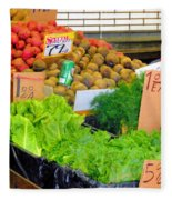 Market At Bensonhurst Brooklyn Ny 5 Fleece Blanket