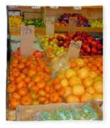 Market At Bensonhurst Brooklyn Ny 7 Fleece Blanket