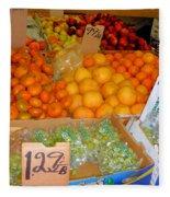 Market At Bensonhurst Brooklyn Ny 8 Fleece Blanket