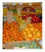 Market At Bensonhurst Brooklyn Ny 9 Fleece Blanket