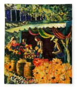 Market In Provence Fleece Blanket