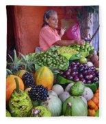 market stall in Nicaragua Fleece Blanket