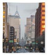 Market Street Philadelphia - In The Morning Fleece Blanket