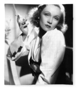 Marlene Dietrich Fleece Blanket